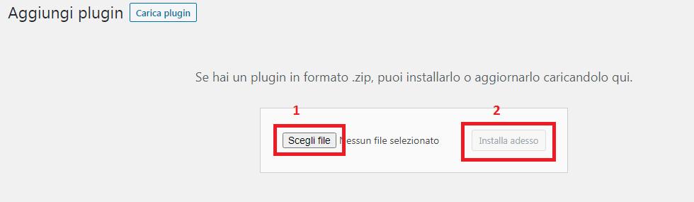 carica nuovo plugin wordpress