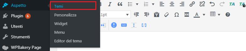 installare temi wordpress